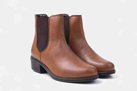 Redfoot Shoes - Pair of ladies leather heeled Chelsea boots - Save 0%