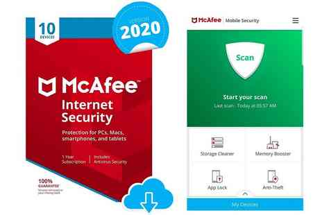 Download Buyer - One year subscription to McAfee Internet Security 2020 - Save 35%
