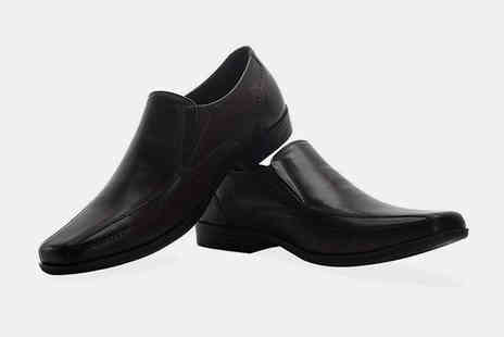 Redfoot Shoes - Pair of mens leather twin loafer shoes - Save 0%