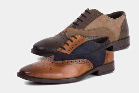 Redfoot - Pair of mens leather gatsby brogues - Save 0%