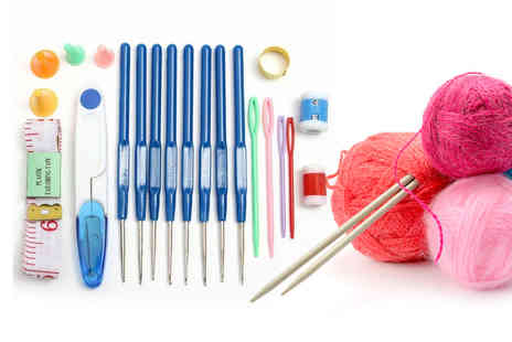 hey4beauty - Knitting and crochet set with 16 crochet needle sizes - Save 67%