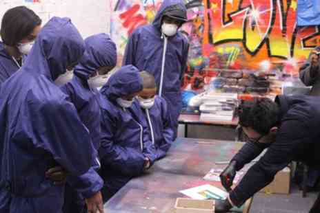 Graffik Gallery - Two Hour Graffiti Class with Canvas for Two Children or Two Adults - Save 51%