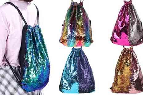 Groupon Goods Global GmbH - One or Two Reversible Sequin Drawstring Bags - Save 0%