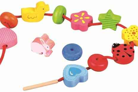 Groupon Good - Lelin Wooden First Threading Activity Toy - Save 13%