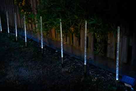 Groupon Goods Global GmbH - 8, 16 or 24 LED Crystal Bubble Solar Powered Lamps - Save 68%