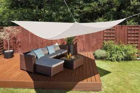 Groupon Good - Waterproof and UV Resistant Sun Shade Sail Canopies in Choice of Size and Colour or Stainless Steel Fixing Kit - Save 73%