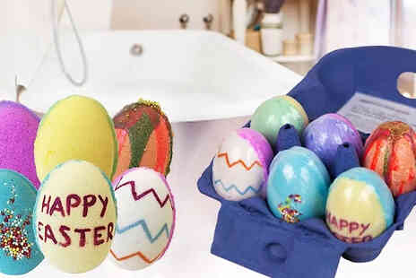 Bathtime Boutique - Handmade Easter Egg Bath Bomb Gift Set Includes 6 Eggs - Save 60%