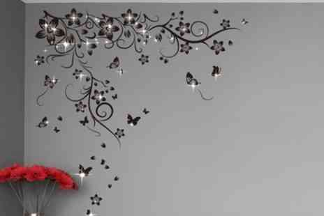 Groupon Goods Global GmbH - Wall Stickers with Crystals from Swarovski - Save 0%