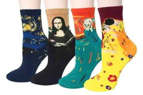 Groupon Goods Global GmbH - One or Two Four Packs of Legendary Artworks Socks - Save 75%