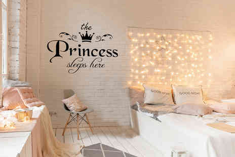 Arthur Gold - Princess sleeps here decal wall sticker - Save 83%