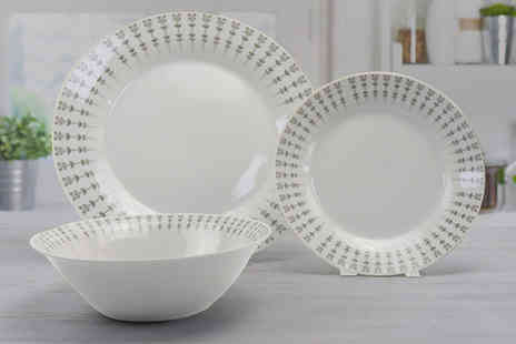Direct Sourcing Project - 12 piece Erin dinner plate set - Save 0%