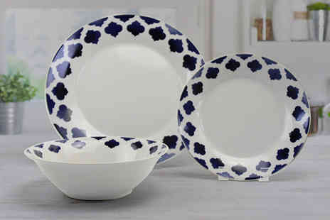 Direct Sourcing Project - 12 piece Kasbah dinner plate set - Save 0%