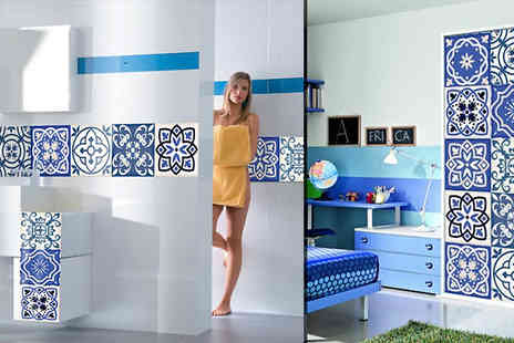 My Blu Fish - Ceramic Style Self Adhesive PVC Wall Stickers Choose from 10, 20 or 30 Pack - Save 73%