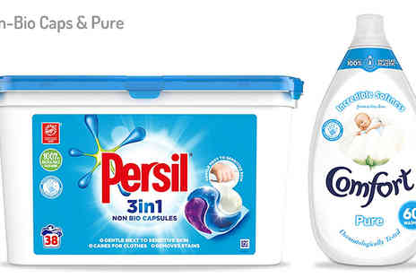 Ebeez - Persil 38 Wash Capsules and 900ml Comfort Fabric Conditioner Bundle 6 Options - Save 40%