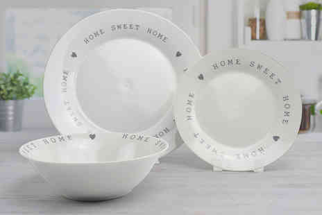 Direct Sourcing Project - 12 piece Home Sweet Home dinner plate set - Save 0%
