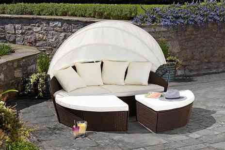 CJ Offers - Rattan daybed with optional cover - Save 28%