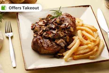 The Cranley - Rib Eye Steak Meal for Two or Four - Save 47%