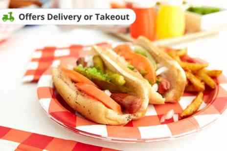 Doggy Dagul - Two Hot Dogs with Chips and Soft Drink or Prosecco for One or Two - Save 57%