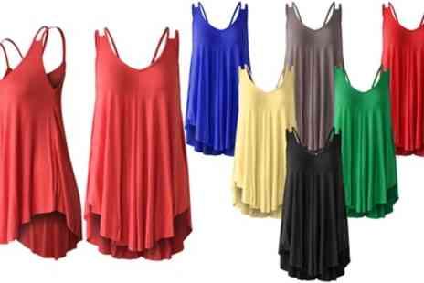Groupon Goods Global GmbH - Womens Strappy Swing Vest Top - Save 0%