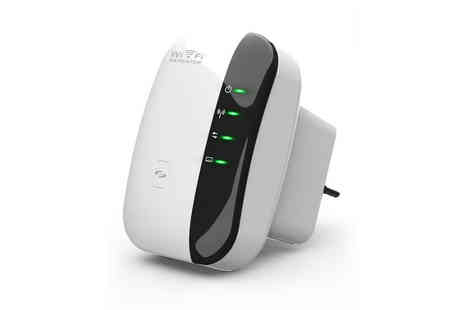 Hevillo - Wireless repeater WiFi range extender - Save 80%