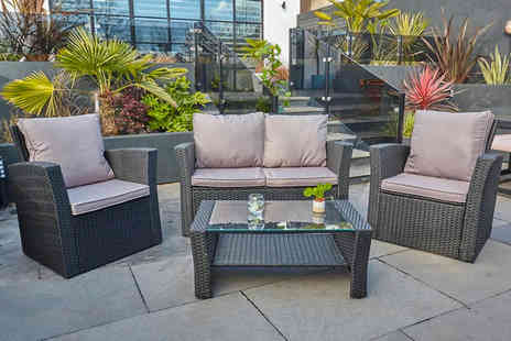 Dreams Outdoors - Four seater rattan garden furniture set - Save 71%