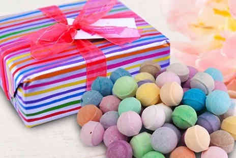 Bathtime Boutique - 50 Assorted Mini Marble Bath Bomb Gift Set - Save 28%
