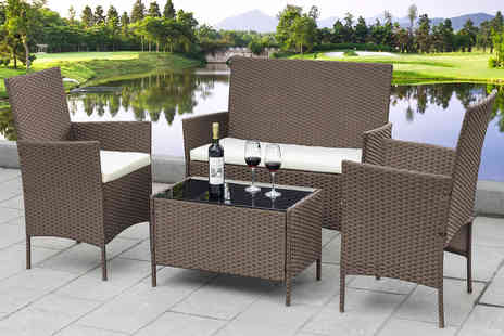 Direct Sourcing Project - Four piece rattan garden furniture set - Save 72%