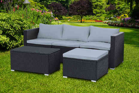 Direct Sourcing Project - Five piece rattan corner furniture set - Save 58%
