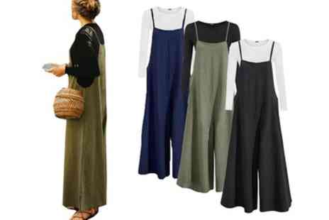 Groupon Goods Global GmbH - One or Two Wide Leg Jumpsuits in Choice of Colour - Save 0%