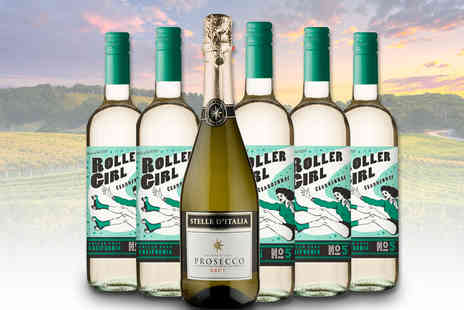 Great Western Wine - Six bottles of Roller Girl wine and prosecco - Save 0%