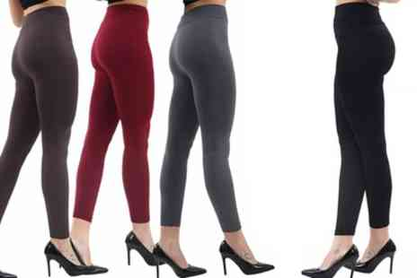 Groupon Goods Global GmbH - Up to Six Pairs of Thick Seamless Fleece Lined Leggings - Save 94%