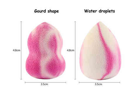 My Blu Fish - 4 Pack of Makeup Sponges Choose from 2 Shapes - Save 70%