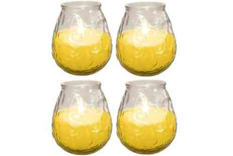 Groupon Goods Global GmbH - Four Pack of Citronella Insect Repellent Candles - Save 42%