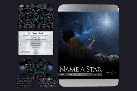 Star Name Registry - Name a Star gift tin Plus Delivery is included - Save 0%