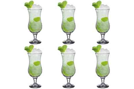 Groupon Goods Global GmbH - 6, 12 or 24 Rink Drink Pina Colada Cocktail Glasses - Save 0%
