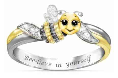 Groupon Goods Global GmbH - Bee lieve in Yourself Ring - Save 83%
