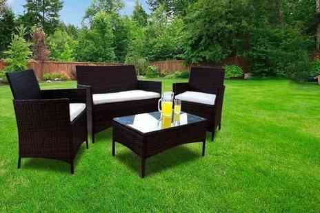 Dining Tables - Four piece rattan furniture set - Save 70%