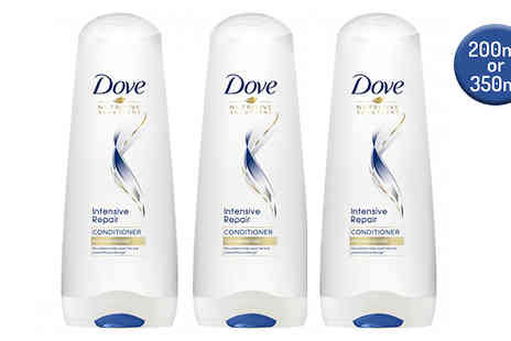 Ebeez - 3 Pack of Dove Intensive Repair Conditioner Choose from 200ml or 350ml - Save 47%