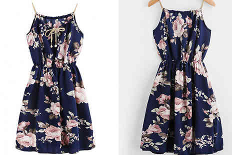 My Blu Fish - Summer Floral Strap A Line Dress Available in 4 Sizes - Save 57%