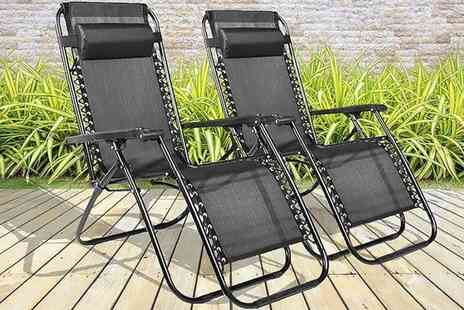 Direct2Public - Two zero gravity reclining sun loungers - Save 0%