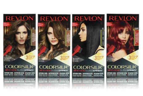 Bright Retail - Two pack of Revlon colour silk hair dye choose from 14 colours - Save 91%