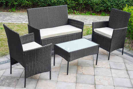 Direct Sourcing Project - Four piece rattan garden furniture set choose between three colours - Save 68%