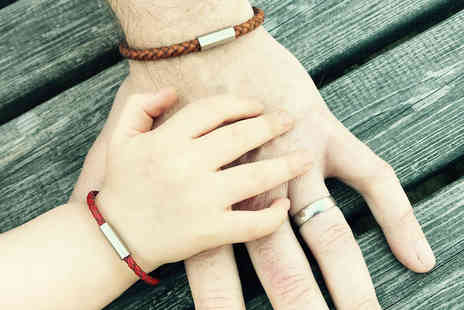 Instinct UK - Dad and Me matching leather bracelets - Save 72%
