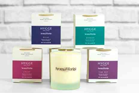 Groupon Goods Global GmbH - AromaWorks 220g Hygge Candles With Free Delivery - Save 40%