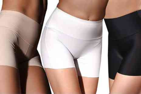 Groupon Goods Global GmbH - Three Pairs of Anti Chafing Seamless Control Pants - Save 17%