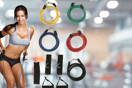 Arthur Gold - 11 piece home resistance band set - Save 0%