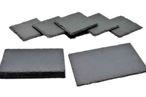 Groupon Goods Global GmbH - Argon Tableware Natural Slate Coasters or Placemats - Save 0%