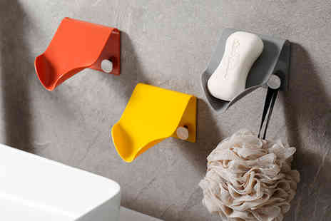 Arthur Gold - Soap or sponge holder draining case choose from four colours - Save 0%