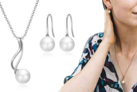 Groupon Goods Global GmbH - Philip Jones Pearl Twist Jewellery Sets - Save 77%