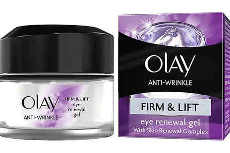 Ebeez - 1 or 2 Olay Anti Wrinkle Firm and Lift Eye Renewal Gel 15ml - Save 33%